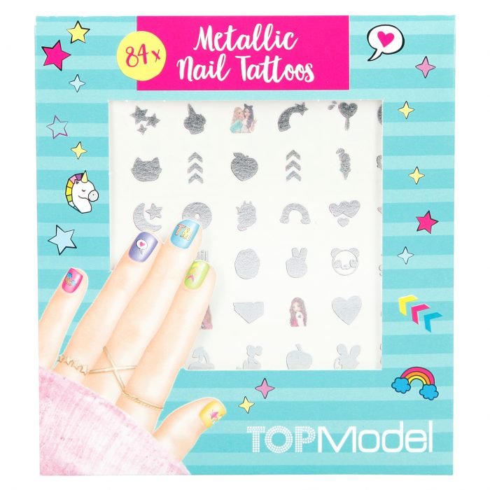 TOPModel Metallic Nail Tattoos