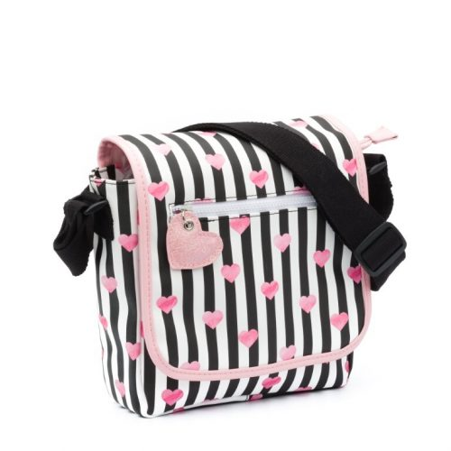 Zebra kinder flaptasje stripes & Hearts Black