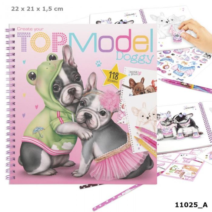 Create your TOPModel Doggy kleurboek