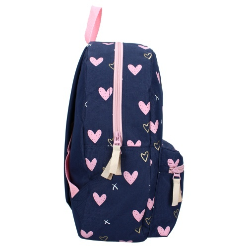Rugzak Milky Kiss Young, Wild & Free Pink Hearts